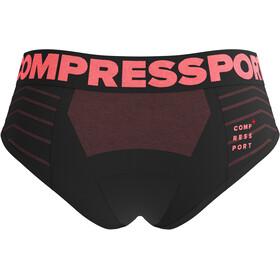 Compressport Seamless Boxers Women, negro/rosa